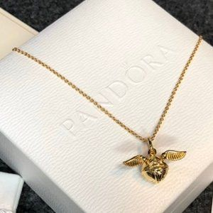 🎆NWT Harry Potter, Golden Snitch Chain Necklace